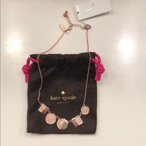 Kate Spade Rose Gold Necklace BRAND NEW